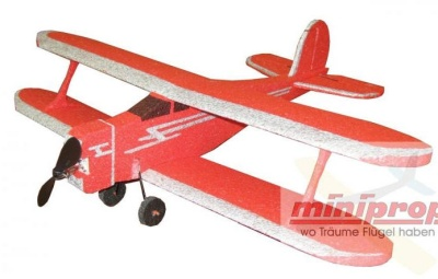 EPP-RC Modell Mini-Staggerwing Spw. ca. 60cm, mehrfarbig
