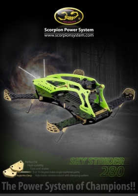 Scorpion Sky Strider 280 FPV Racing Quad Copter Kit Racing Q
